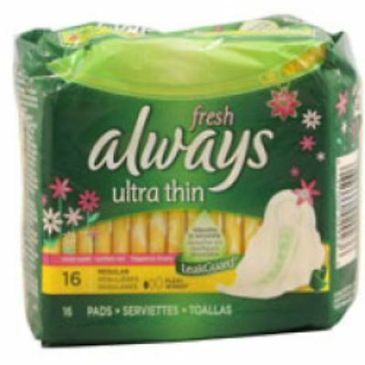 Always Fresh Ultra Thin Regular Maxi Pads With Flexi-Wings - 16 pads