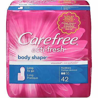 Carefree Pantiliners Body Shaped Togo Long 8X42ct