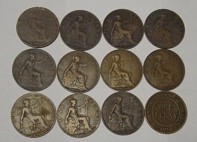 GB Pennies as used in Australia pre 1911, plus first Australian Penny.