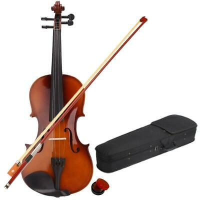 Acoustic Violin 4/4 Full Size with Case Bow Rosin Wood Color