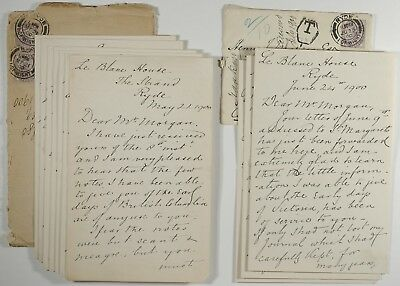 PHILIP HANKIN 1900 autobiographical letters(2) British Columbia re1860s 40pages