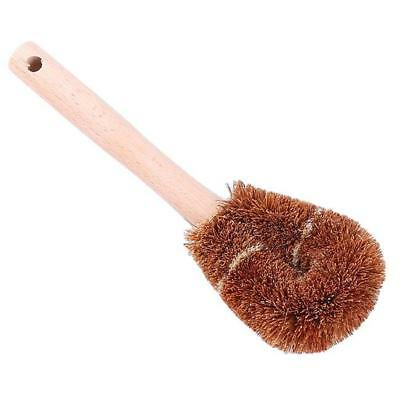 Coconut Fiber Washing Up Brush with Handel Kitchen Dish Cleaning Tool LA