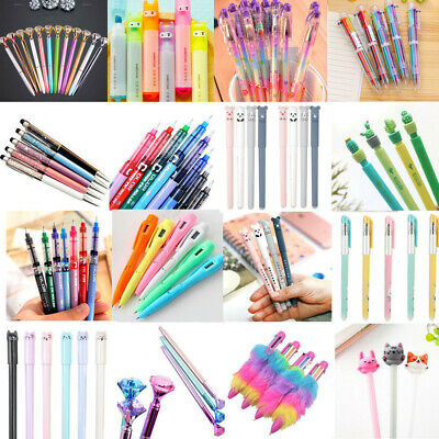 Cute Gel Pen Ballpoint Colorful Stationery Writing Sign Child School Office Tool