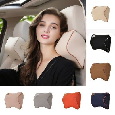 Car Seat Headrest Neck Support Pillow Bone Memory Cushion Soft Memory Foam Pad