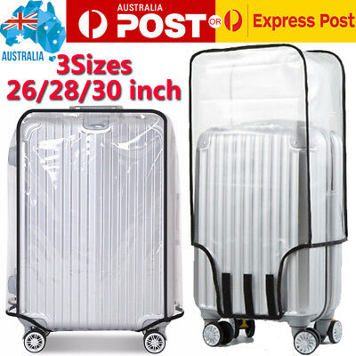 26''28''30''Transparent Travel Luggage PVC Protector Suitcase Waterproof Cover