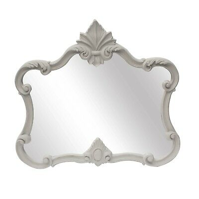 Stunning Shabby Chic Romantic Boudoir Style Ornate Carved Overmantle Mirror