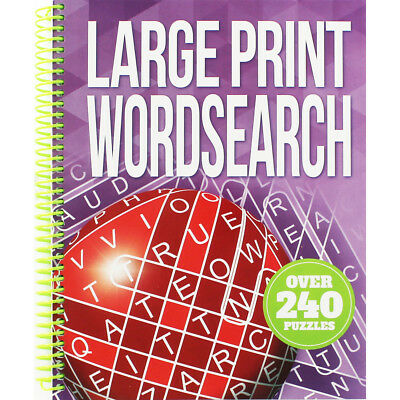 Large Print Wordsearch by Igloo Books (Spiral Bound), Books, Brand New