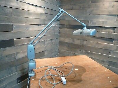 Vintage 50's  Dazor Floating Anglepoise Magnifying Bench Lamp