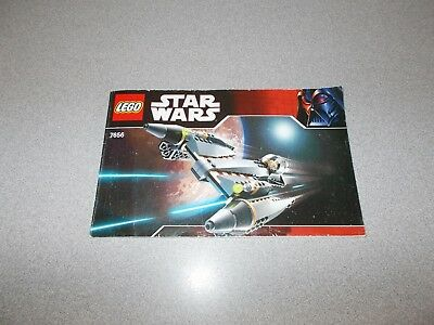 Lego Instruction Manual Only Star Wars From 7656 General Grievous
