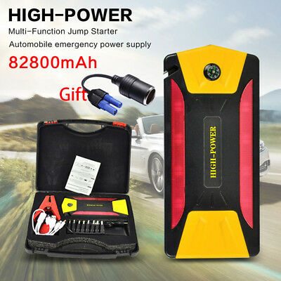 82800mAh Car Jump Starter Emergency Charger Booster Power Bank Battery Torch SOS