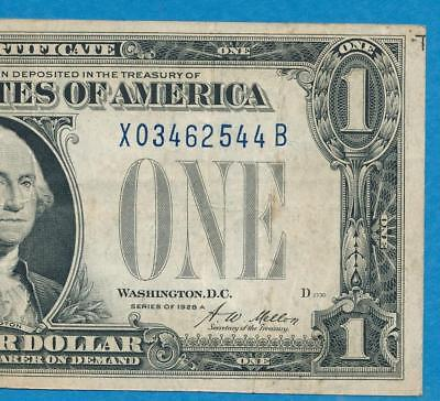 $1.00 1928-A Xb  Experimental Funny Back Blue Seal Silver Certificate