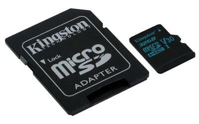 Kingston Canvas Go! 32GB microSD Card with SD Adapter - Class 10 UHS-I U3