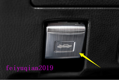 stainless Front Engine switch button cover trim For Toyota Highlander 2015-2018