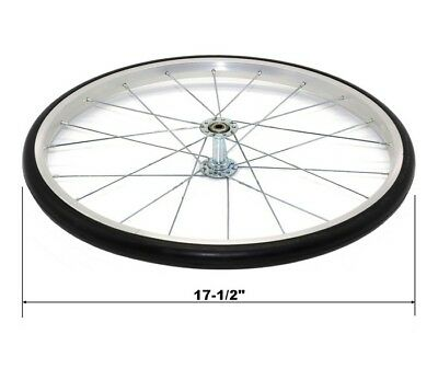 """Replacement Wheel Silver Large 18"""" For Popcorn Machine Cart Great Northern"""