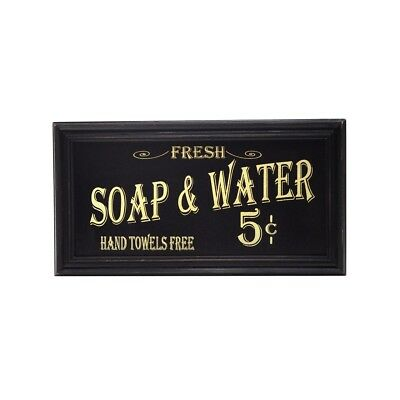 Bath Room Soap&Water Wood Sign Vintage Rustic Farmhouse Bathroom Home Wall Decor