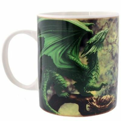 Anne Stokes Forest Dragon Green Gothic Fantasy Ceramic Travel Mug Gift Boxed