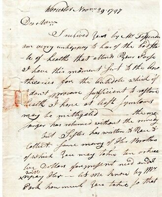 1797, Dr. John Green, letter to  William Green, Student at Brown University