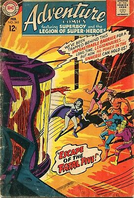 Adventure Comics # 365 - 1St Appearance Shadow Lass - Neal Adams Cover - Cents