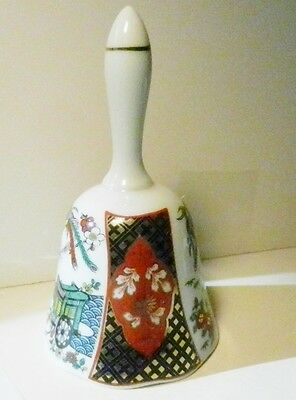 IMARI Porcelain-Heritage Mint Oriental Design Porcelain Bell- Made in Japan