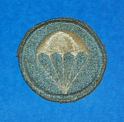 Salty Original Ww2 Fully Embroidered Airborne Infantry Cap Patch, Early One!