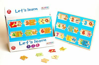 Let's Learn Animal Food Number Matching Puzzle Educational Kids Toy Fun Game