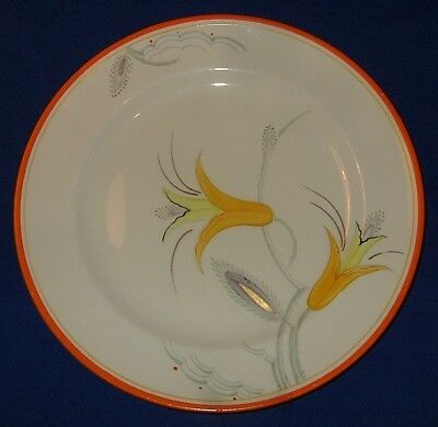 A. E. GRAY:  9 inch plate, SUSIE COOPER-like stylised floral design. NR!