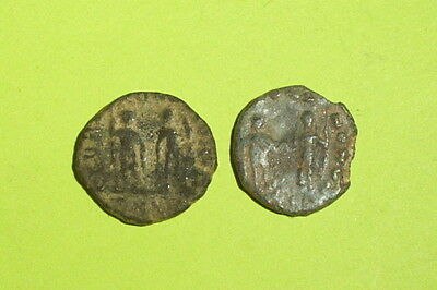 HONORIUS COLLECTION Ancient ROMAN COINS emperors globe spear shield lot old Good