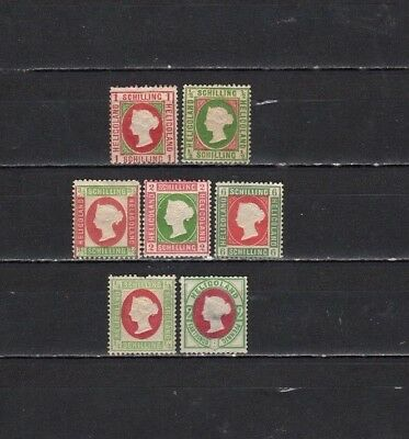 heligoland - Lot Of Early Unused  Stamps