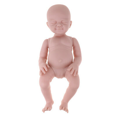 Unpainted Reborn Doll Kits For 20inch Girl Baby Dolls Full Silicone Body