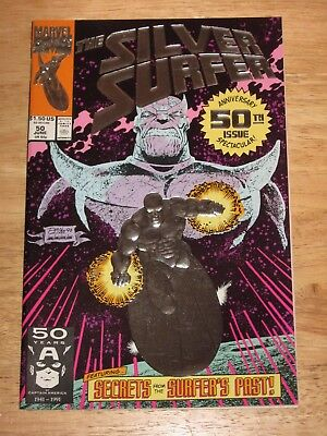 Silver Surfer 50  1st print Foil Cover Thanos Unread Unhandled High Grade