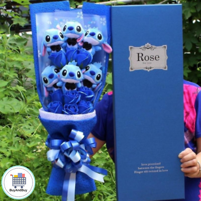 Stitch Bouquet Artificial Lovely Cartoon Plush Toys Stitch Festivals Best Gift .