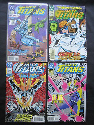 """NEW TITANS : issues 104,105,106,107, """"TERMINUS"""" complete 4 issue story. DC.1993"""