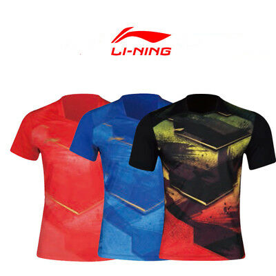 2018 Asian Games table tennis clothes Li-Ning Short Sleeve T-Shirt Men's Tops