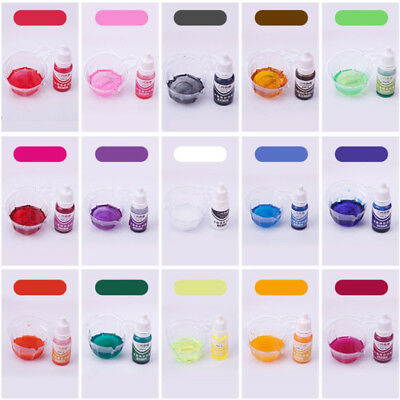 10ml 15 Color Epoxy UV Resin Colorant Liquid Jewelry Pigment Bath Bomb Soap Dye