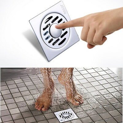 Square Shower Drain Thick Stainless Steel Floor Drain Bathroom Kitchen Dedicated