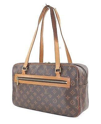 16abf99b37ae Authentic LOUIS VUITTON Cite GM Monogram Canvas Shoulder Bag Purse  30652