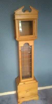 Pine Grandfather Clock Case Only