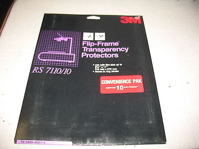 3M RS 7110-10 Flip Frame Transparency Protectors 10 Per package NIP Multiples Av