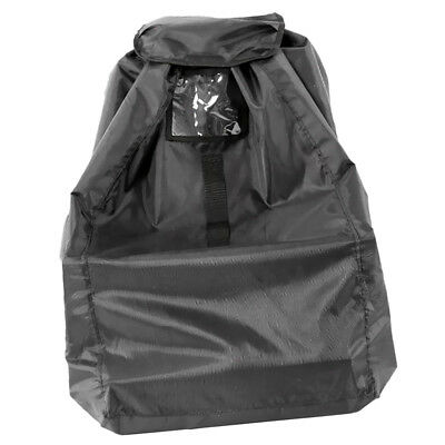 Baby Car Seat Travel Cover for Airplane Gate Check Bag Pouch Portable Black
