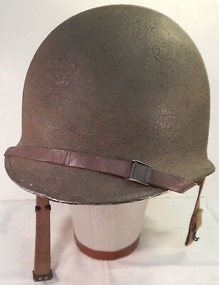 WWII U.S. Army M1 Fixed Bale Combat Helmet, WWII Liner, SEAMAN PAPER, 100%, A++