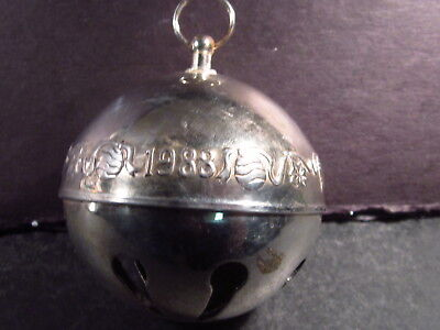 Wallace 1988 SILVERPLATE SLEIGH BELL ORNAMENT