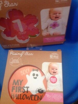 Baby Risng Star Belly Stickers 12 Mo Holidays Look..