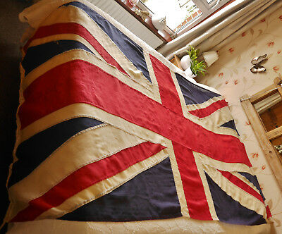 WW2 era British Panel Stitched Vintage Union Jack Flag