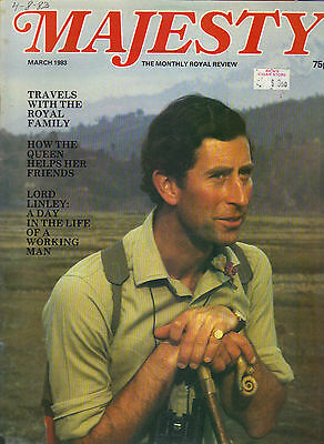 PRINCE CHARLES UK Majesty Magazine 3/83 Vol 3 No 11 LORD LINLEY