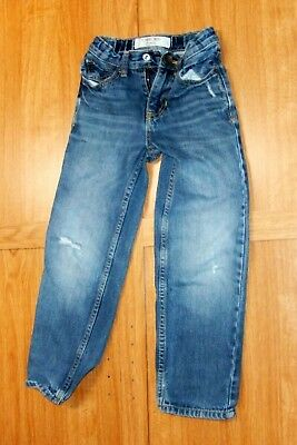 Cherokee Boys Jeans Size 5 Cotton Denim Adjustable Waist 5 Pockets