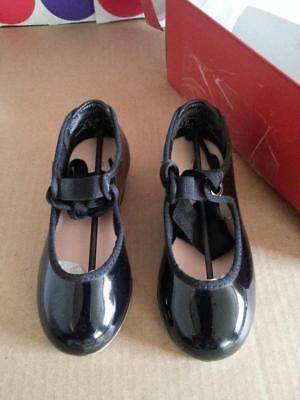 Capezio Mary Jane Tap Shoes, Black,  Toddler Size 8M, style 3800