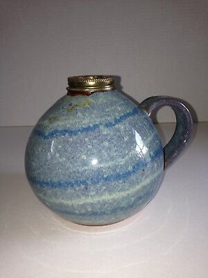 Vintage Pottery Oil Lamp Marked A&A