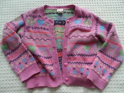 991c4bea8e66b8 Girl's size 4T Carter's Kids Pink Cardigan Sweater with Hearts & Flowers