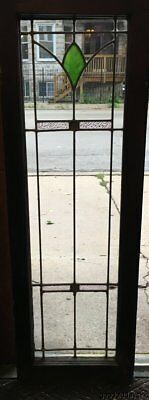 "Antique Stained Leaded Glass Door / Window 45"" by 15 1/8"""