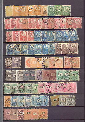 HUNGARY - DUPLICATED USED FIRST TYPES ETC ON STOCKPAGE (c88 )